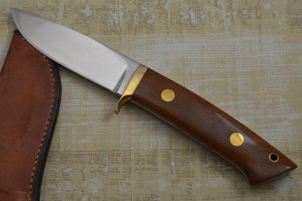Jimmy Lile Hand Signed Big 7 Hunting Knife, Ambidextrous Sheath
