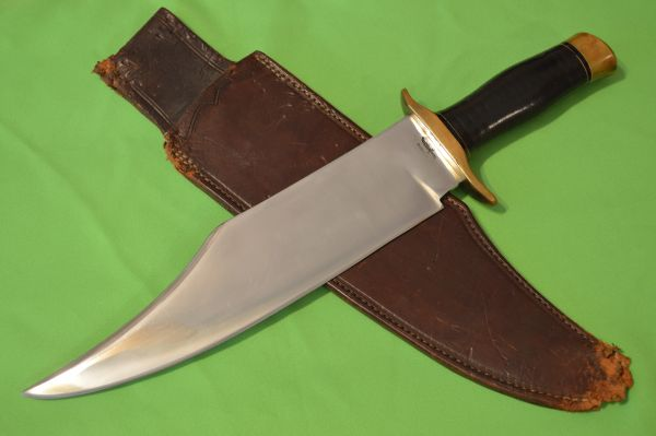 "Early Gil Hibben 16.5"" Manti Utah Bowie Knife"