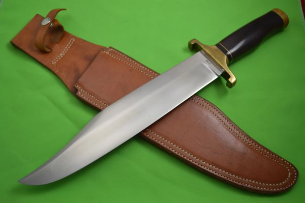 "Early George ""G.W."" Stone 16.5"" Bowie Knife"