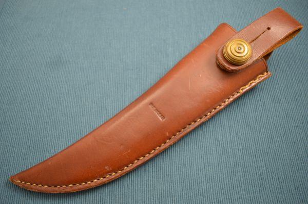 "William F. ""Bill"" Moran ST-24 Wood/Felt Lined Leather Sheath (No Knife)"