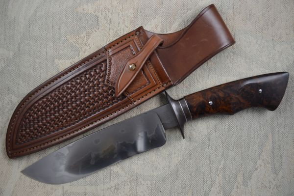 "John White, MS, 7 1/2"" W-2 Camp Knife, Paul Long Sheath (SOLD)"