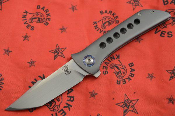 John Barker Black Shuck, CTS-XHP, Timascus Pivot Collars, Backspacer, Pocket Clip