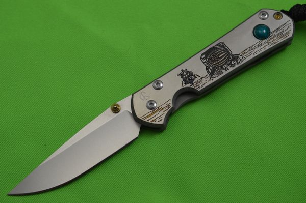"Chris Reeve Small Sebenza 21 CGG ""Lunar Landing"" with Chrysocolla (SOLD)"