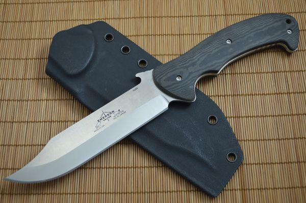 "Emerson Knives ""Sprint Run"" EBX-1-SF Fixed Blade Knife, Black Richlite Handles"