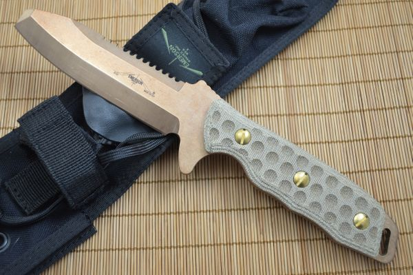 """Emerson Knives """"EOD"""" Fixed Blade Knife, Non-Magnetic Copper Beryllium Alloy Blade"""