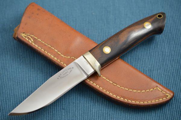 Bob Loveless Hunting Knife #178, Riverside Calif., Leather Sheath