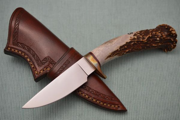 Larry Fuegen, M.S. Crown Stag Hunter, Tooled Leather Sheath (SOLD)