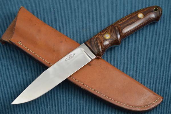 Bob Loveless-Steve Johnson Caper Hunting Knife #772, Leather Sheath