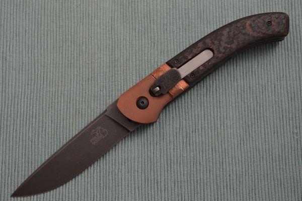 Philip Booth Custom Lever Auto Liner-Lock Folding Knife