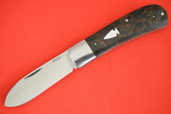 Bobby House Vintage Rag Micarta Zulu Spear, Slip-Joint Folding Knife