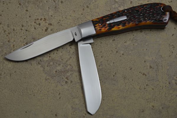 Toby Hill Two-Blade Remington 1123 Bullet Trapper Slip-Joint Folding Knife