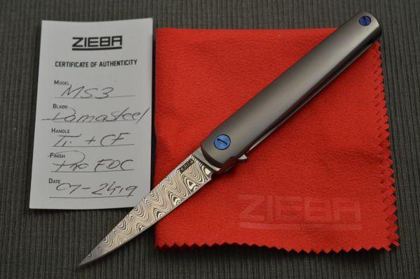 Michael Zieba MS3 Manhattan Special Damasteel Frame-Lock Flipper