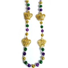 "36"" Crowns - Purple, Green, & Gold Beads"