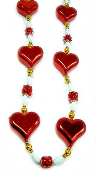 """48"""" Large Heart Beads"""