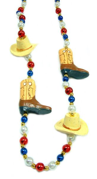 """42"""" Cowboy Hat Boots Beads"""