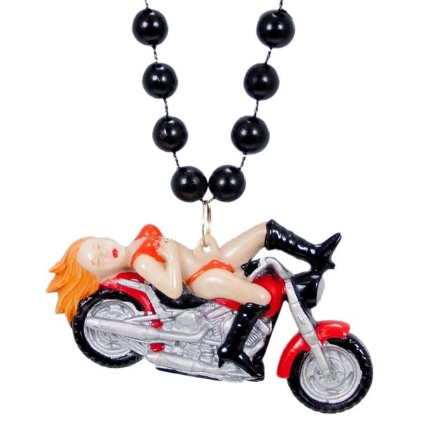 "36"" - Biker Chick Beads Necklace"