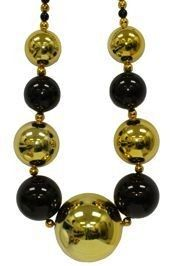 60mm-80mm Big Balls Necklace: Black& Gold