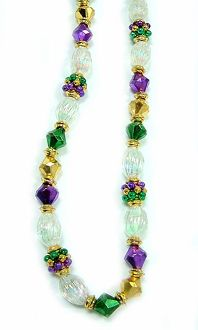 "42"" Crystal Purple Green & Gold Mix"