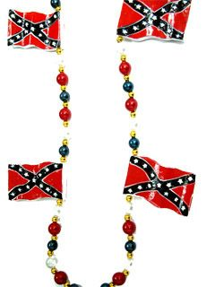 "42"" Rebel Flags Beads"