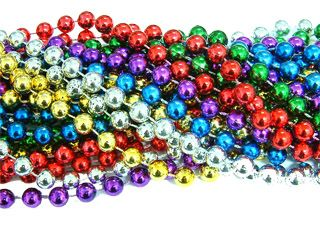 "60"" - 12mm Multi Color Round Beads 12 pcs."