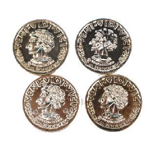 Plastic Gold Coins 144 pcs.