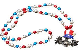 "42"" Top Hat Skull Beads"