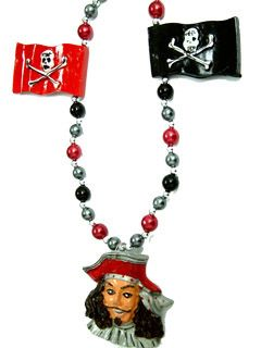 "42"" Pirate Head w/ Flags Beads"