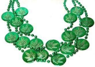 "36"" Marijuana Coin Bead - 12 pcs."