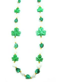 "46"" Clovers w/ Leaves Beads"