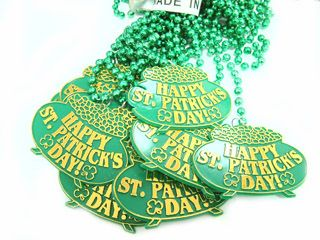 "33"" St Patrick's Day Medallion Beads 1 dz."