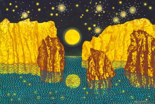 Super Moon under Aquarian Skies