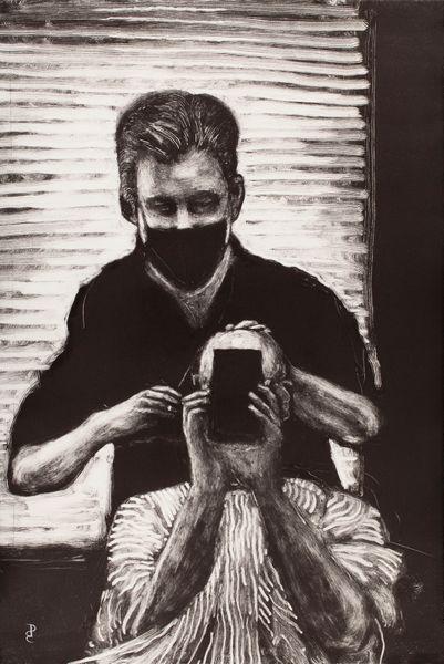 Self-portrait with Jeff, my Barber