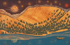 Stars over The Deschutes River near Warm Springs