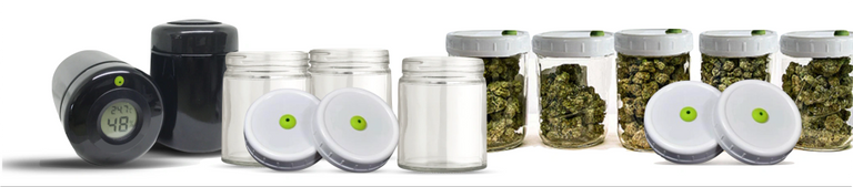 Cannabis storage with Map-Tech Lids