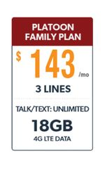 Defense Mobile Non-Veteran 3 Line $143.00 Family Plan