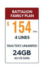 Defense Mobile Non-Veteran 4 Line $154.00 Family Plan