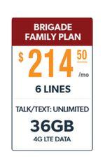 Defense Mobile Non-Veteran 6 Line $214.50 Family Plan