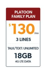 Defense Mobile Verified Veteran/Veteran Family Member 3 Line $130 Plan