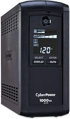 CyberPower CP1000AVRLCD Intelligent LCD UPS System, 1000VA/600W, 9 Outlets, AVR, Mini-Tower