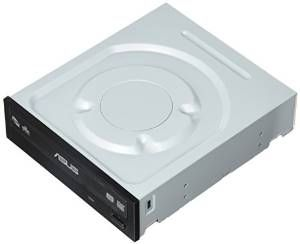 ASUS DVD-Writer 24X DVD+R 8X DVD+RW 8X DVD+R DL 24X DVD-R 6X DVD-RW 16X DVD-ROM 48X CD-R 24X CD-RW 48X CD-ROM Black SATA Model DRW-24F1ST - OEM