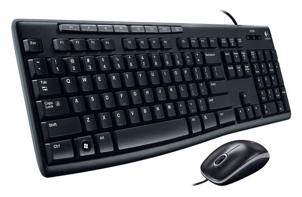 Logitech Media Combo MK200 Full-Size Keyboard and High-Definition Optical Mouse (920-002714)