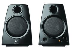 Logitech 3.5mm Jack Compact Laptop Speakers, Black (Z130)