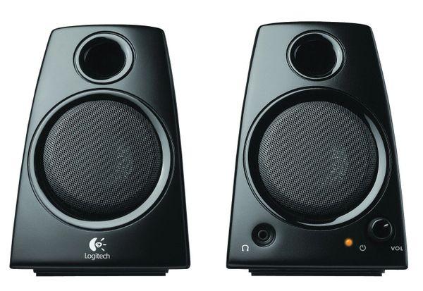 Logitech 3.5mm Jack Compact Laptop Speakers, Black (Z130)