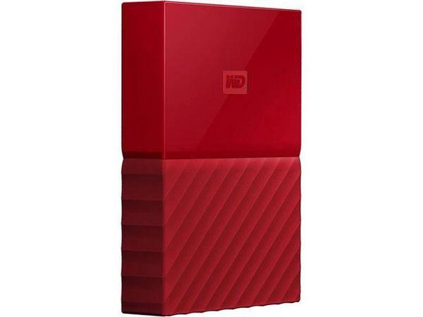 WD 2TB My Passport Portable Hard Drive USB 3.0 Model WDBYFT0020BRD-WESN Red