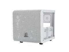 Thermaltake Core V1 Snow Edition Extreme Mini ITX Cube Chassis, Compatible with air and Liquid Cooling Builds CA-1B8-00S6WN-01