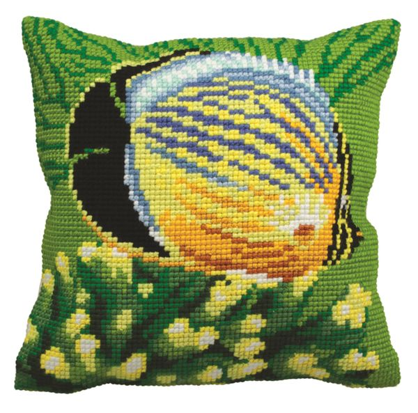 Exotic Fish I Cross Stitch Cushion Front Kit CD5150 Collection D/'Art
