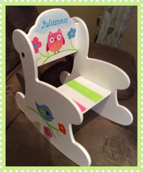 Enjoyable Wood Rocking Chair Arch Back The Julianna Hand Painted Personalized Baby Gift Toddler Gift Baby Shower Kids Rocker Active Evergreenethics Interior Chair Design Evergreenethicsorg