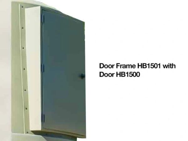 Solid door with frame