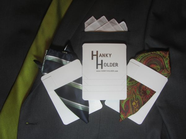 Hanky Holder (2 pack) (pocket squares not included)