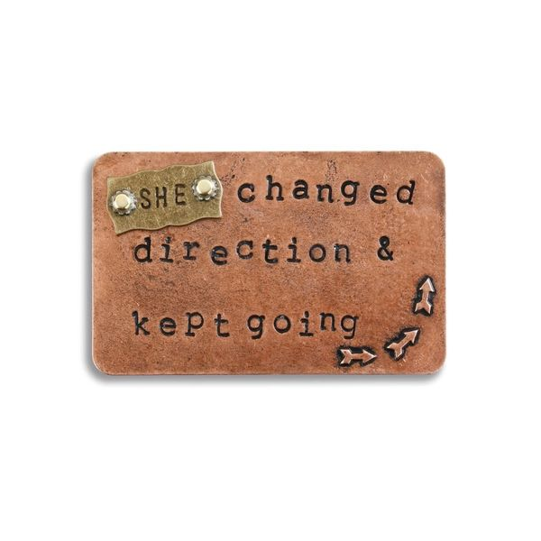 "Inspire Card ""She changed direction & kept going"""